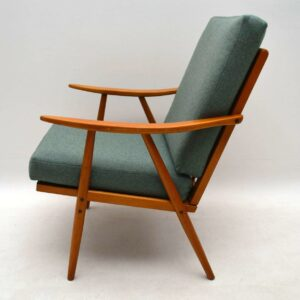 1950's Vintage Armchair with Wool Fabric