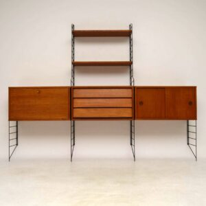 1960's Vintage String Shelving Cabinet / Bookcase