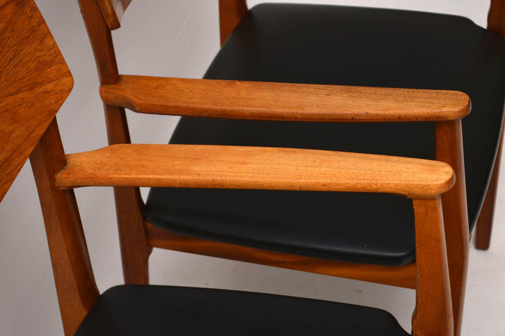 1960 S Pair Of Vintage Teak Carver Chairs Retrospective