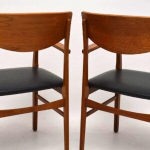 1960's Pair of Vintage Teak Carver Chairs