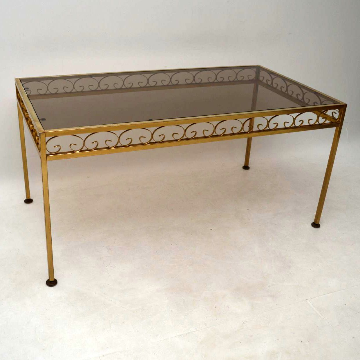 1970's Vintage Brass Dining Table