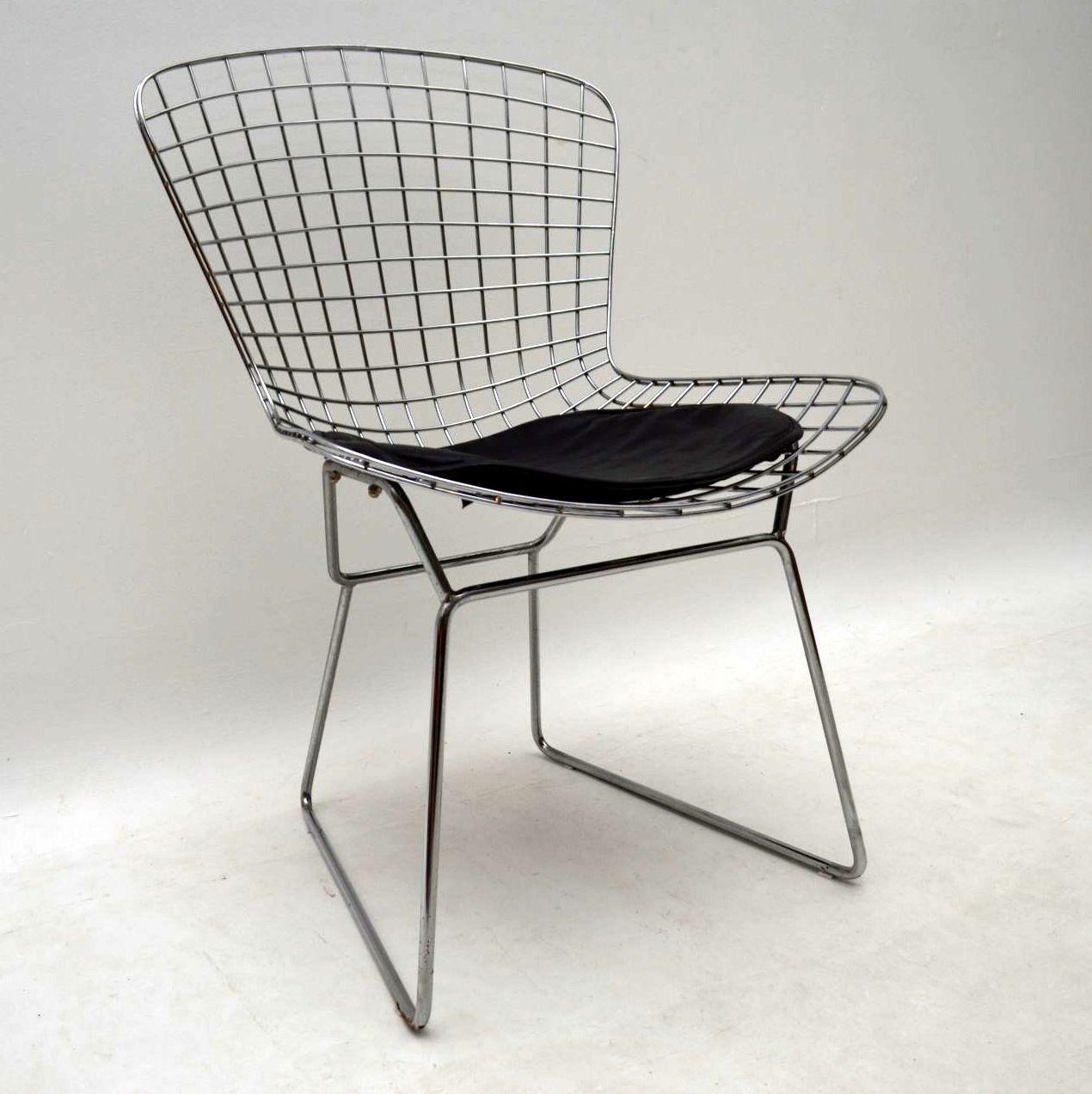Pair Of Vintage Harry Bertoia Wire Chairs Retrospective