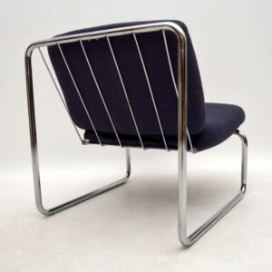 Pair of 1970's Vintage Lounge Chairs in Tubular Steel (Copy)