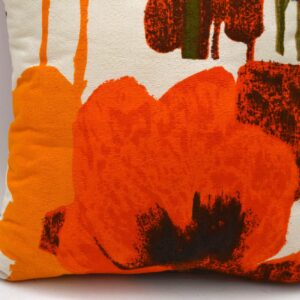Retro Scatter Cushion in Original Vintage Heal's Fabric - Pansies by Howard Carter