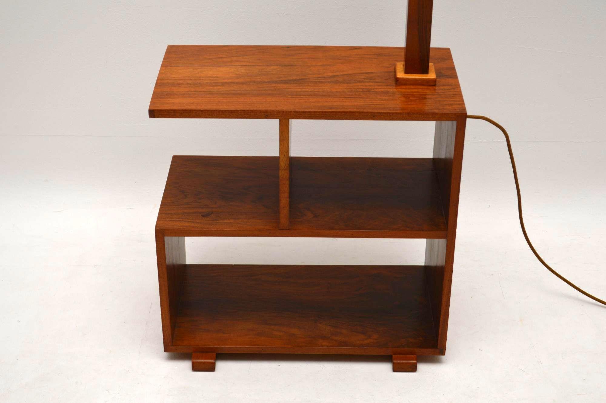 Vintage Art Deco Walnut Lamp Side Table Retrospective