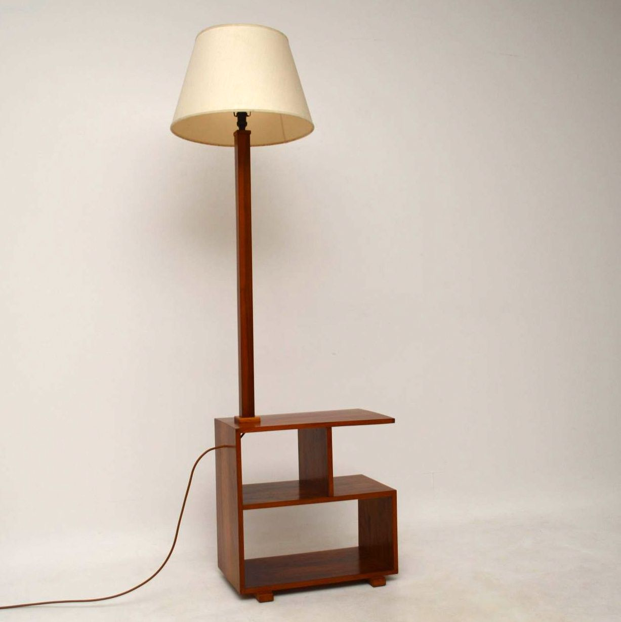Vintage Art Deco Walnut Lamp Side Table Retrospective