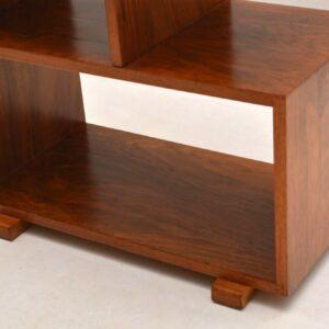 Vintage Art Deco Walnut Lamp / Side Table