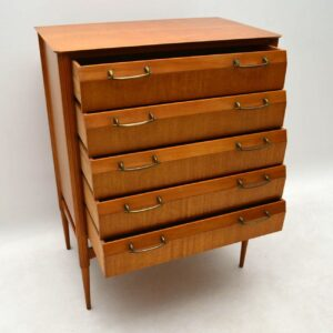 1960's Vintage Satinwood Chest of Drawers