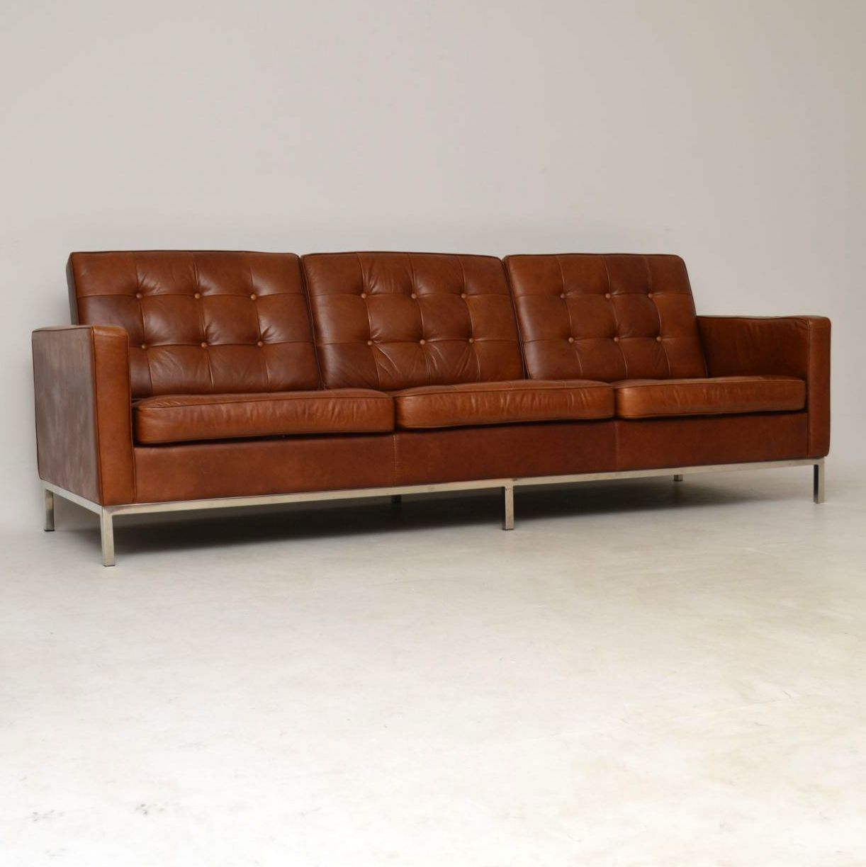 Vintage Florence Knoll Leather Amp Chrome Sofa Retrospective Interiors