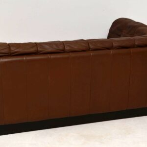 1960's Vintage Danish Leather Two Seat Sofa