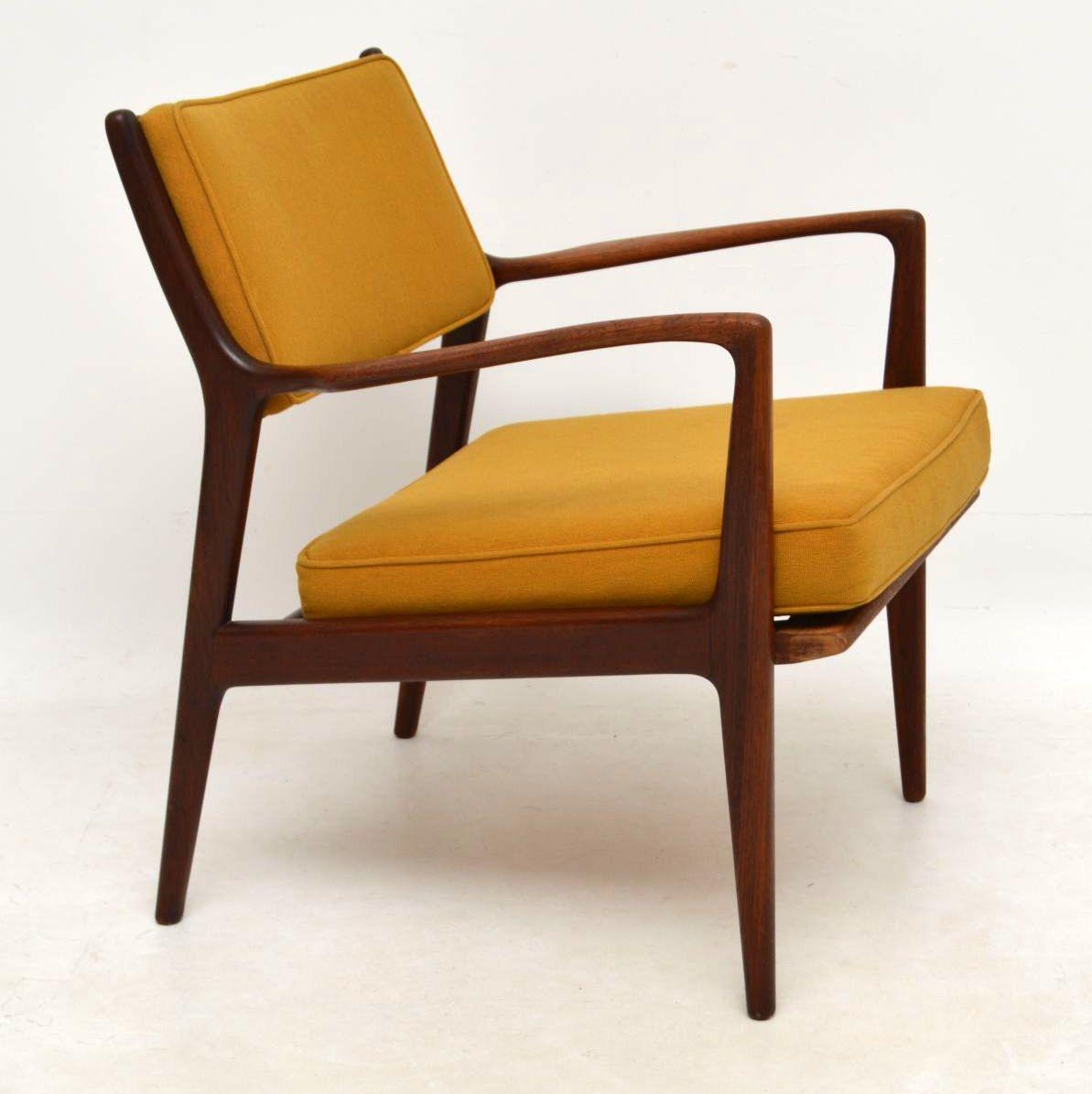 1960's Swedish Vintage Teak Armchair by Karl-Erik Ekselius