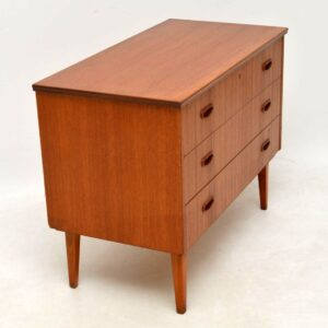 1960's Vintage Danish Teak Chest of Drawers