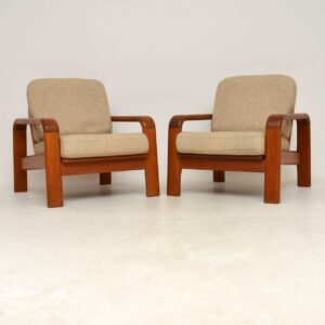 1960's Pair of Vintage Danish Teak Armchairs