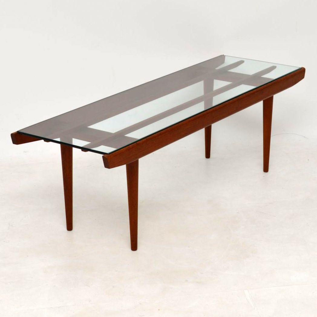Second Hand Teak Coffee Table: 1960's Danish Teak Vintage Coffee Table
