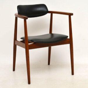 1960's Danish Teak Vintage Armchair / Desk Chair
