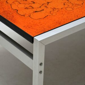 1960's Vintage Coffee Table in Alumium & Resin