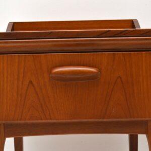 Pair of Vintage Teak Bedside Tables