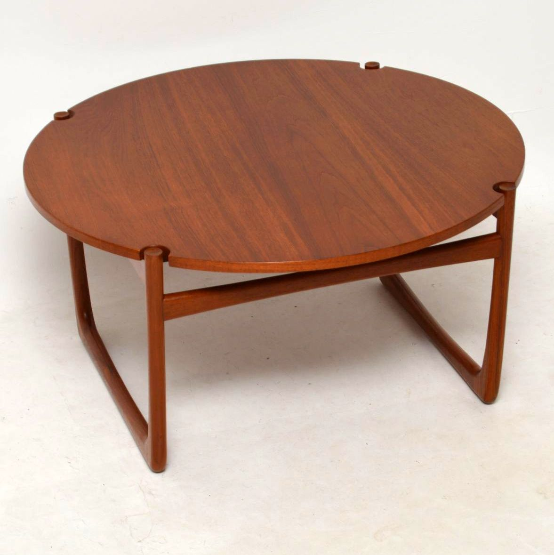 Orla Retro Coffee Table: 1960's Danish Teak Coffee Table By Peter Hvidt & Orla