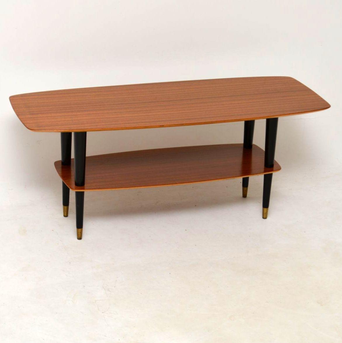 Coffee Table 1950s: 1950's Teak Vintage Coffee Table