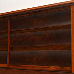 1960's Rosewood , Zebrano & Walnut Vintage Sideboard