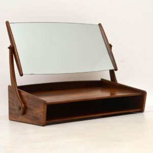 1960's Danish Rosewood Vintage Wall Mounting Dressing Table