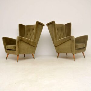 Pair of 1950's Wing Back Armchairs