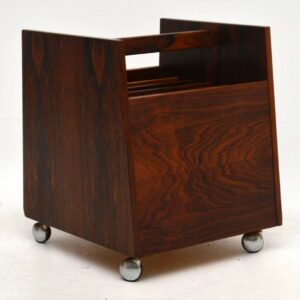 1960's Rosewood Magazine / Record Rack by Rolf Hesling for Bruksbo