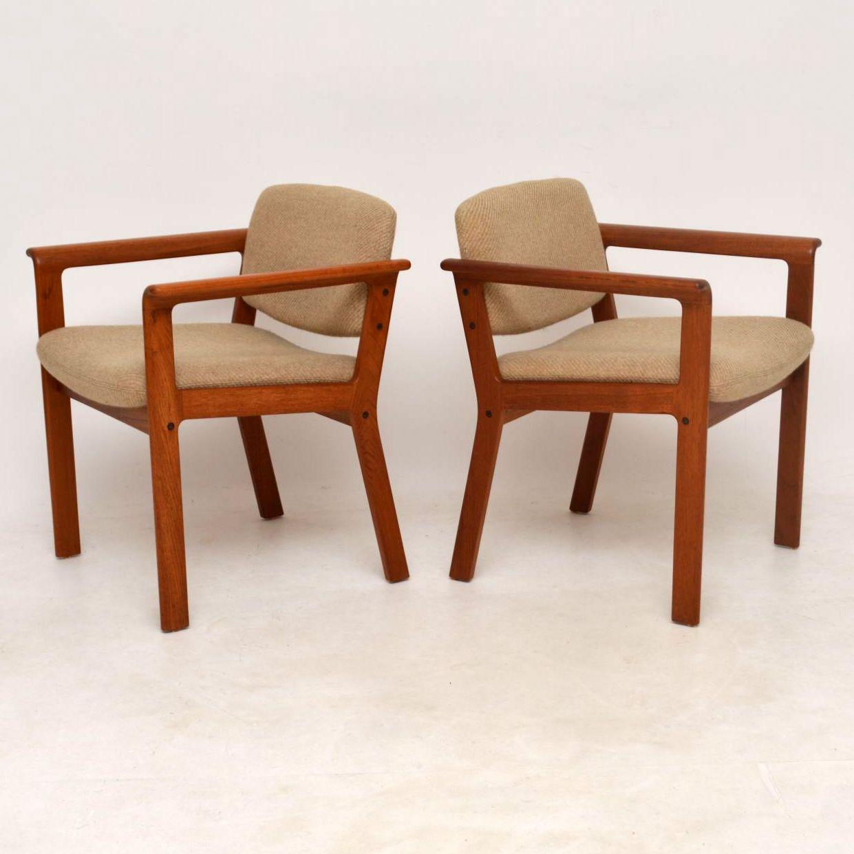 1960u0027s Pair Of Danish Teak Vintage Armchairs By Erik Kirkegaard