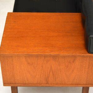 1960's Vintage Teak Telephone Bench by Chippy Heath