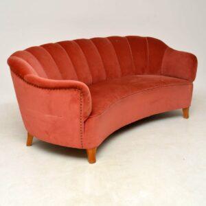 1950's Swedish Vintage Banana Sofa