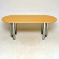 1970's Vintage Italian Marble and Chrome Dining Table