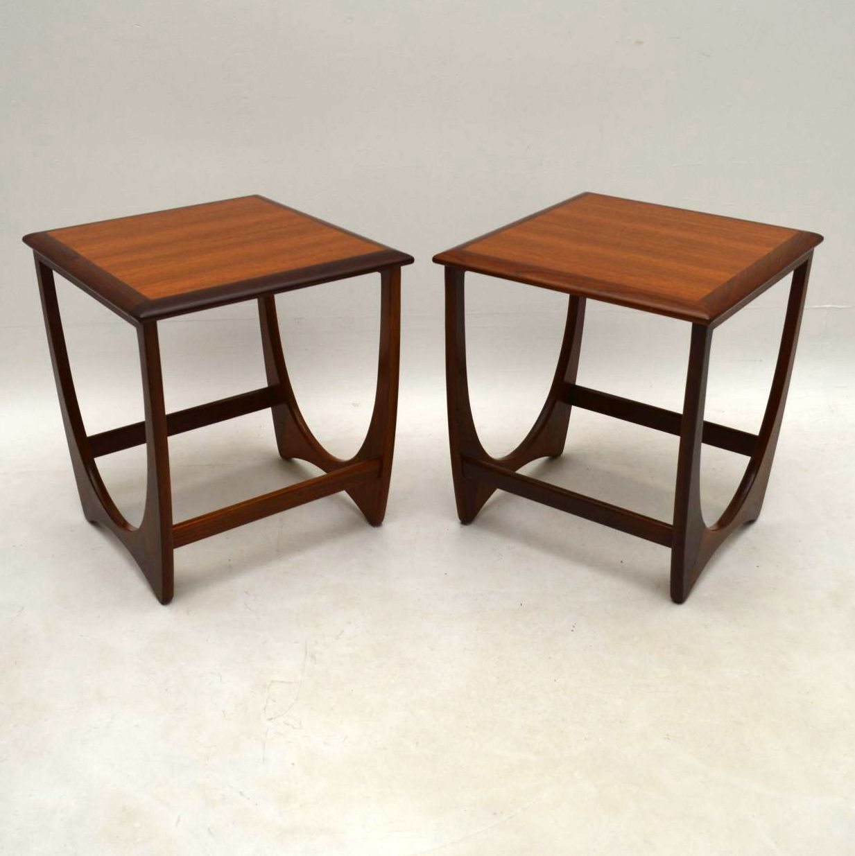 1960's Vintage G- Plan Teak Nesting Coffee Table / Side