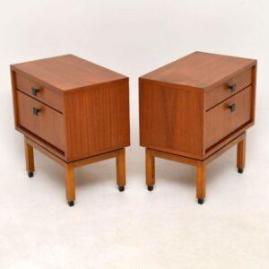 Pair of Danish Teak Vintage Bedside Cabinets