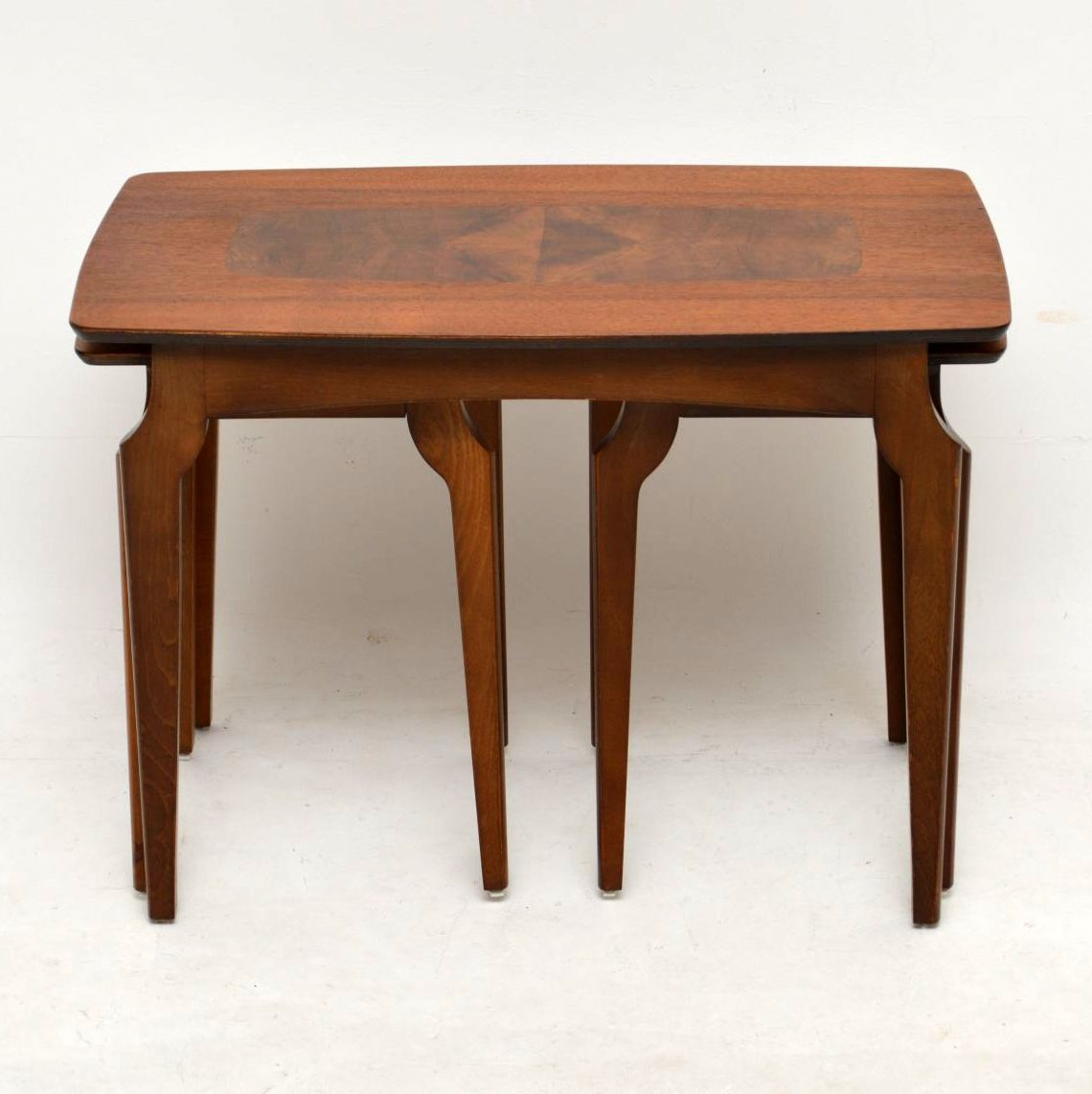 Coffee Table 1950s: 1950's Vintage Nesting Coffee Table In Walnut
