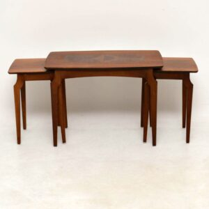 1950's Vintage Nesting Coffee Table in Walnut