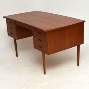 1960's Danish Vintage Teak Desk