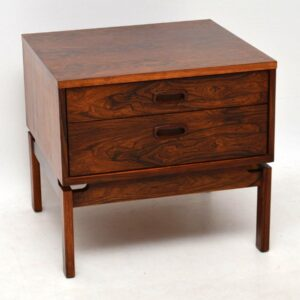1960's Danish Rosewood Vintage Side Chest of Drawers