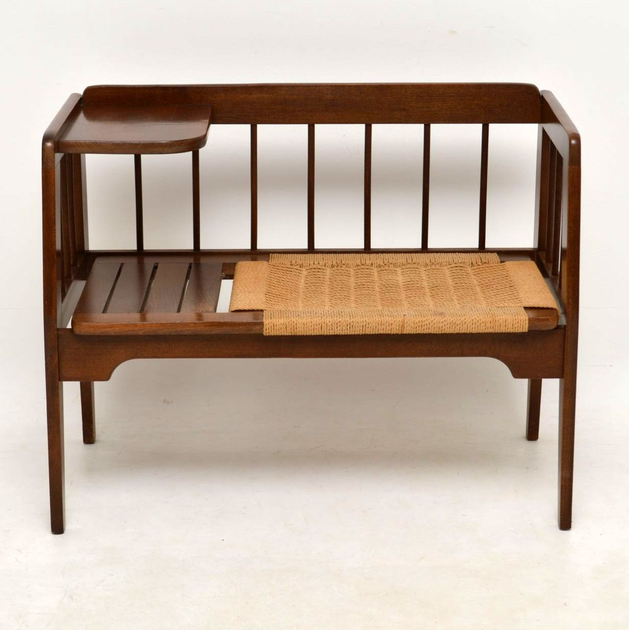 1950 S Vintage Telephone Bench Side Table