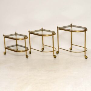 1950's Vintage French Nest of Tables / Drinks Trolley