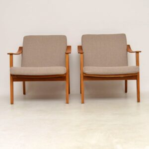 1950's Pair of Danish Vintage Armchairs