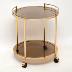 1970's Vintage French Brass Drinks Trolley