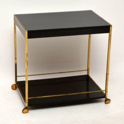 1970's French Brass & Formica Vintage Drinks Trolley