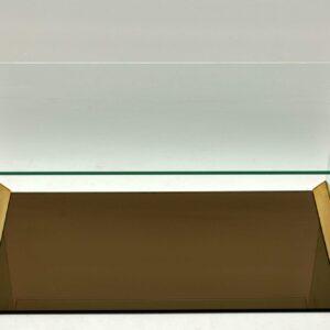 1970's Vintage Italian Glass & Brass Cabinet by Gallotti & Radice