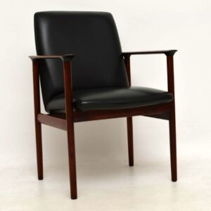 1960's Pair of Vintage Danish Rosewood Armchairs by Arne Vodder