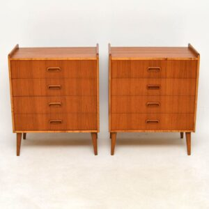 1960's Pair of Danish Teak Side Chests of Drawers
