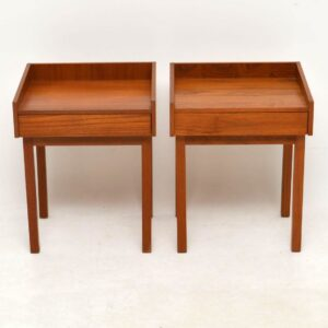 1960's Pair of Swedish Teak Vintage Bedside Tables