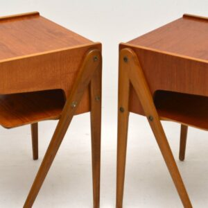 1960's Pair of Swedish Vintage Teak Bedside Tables