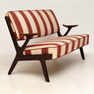 1960's Swedish Vintage Two Seat Sofa