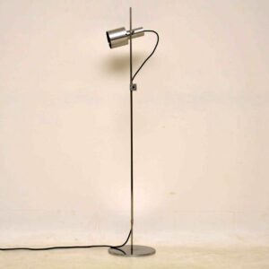 1960's Brushed Steel Vintage Floor Lamp