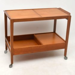 1960's Vintage Teak Drinks Trolley